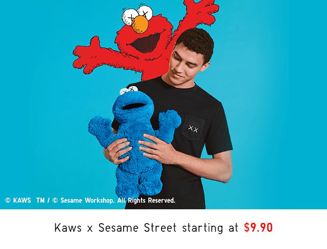 KAWS X SESAME STREET STARTING AT $9.90