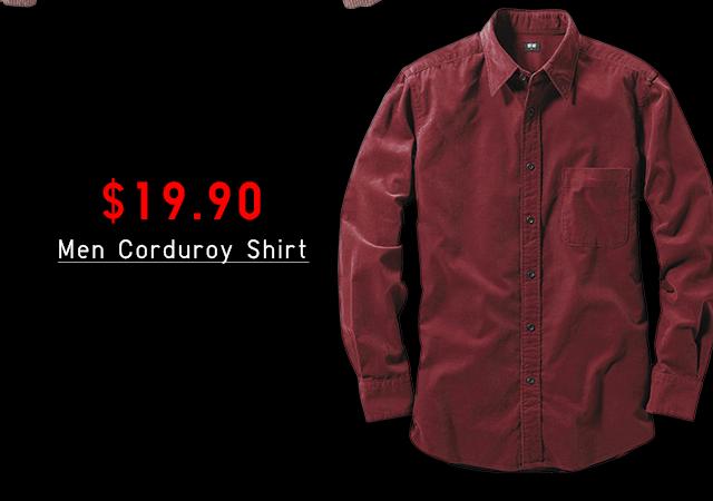 $19.90 MEN CORDUROY SHIRT