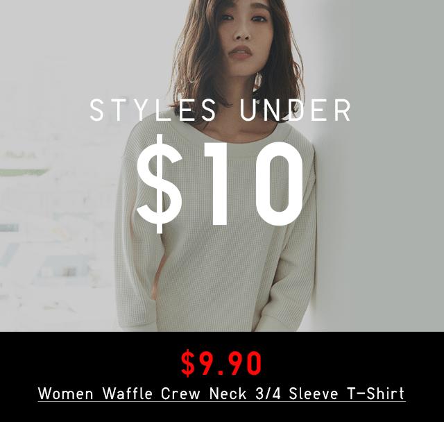 STYLES UNDER $10 - $9.90 WOMEN PILE-LINED SWEAT SKIRT