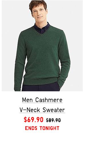 MEN CASHMERE V-NECK SWEATER $69.90
