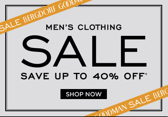 Save up to 40% off Men's Clothing