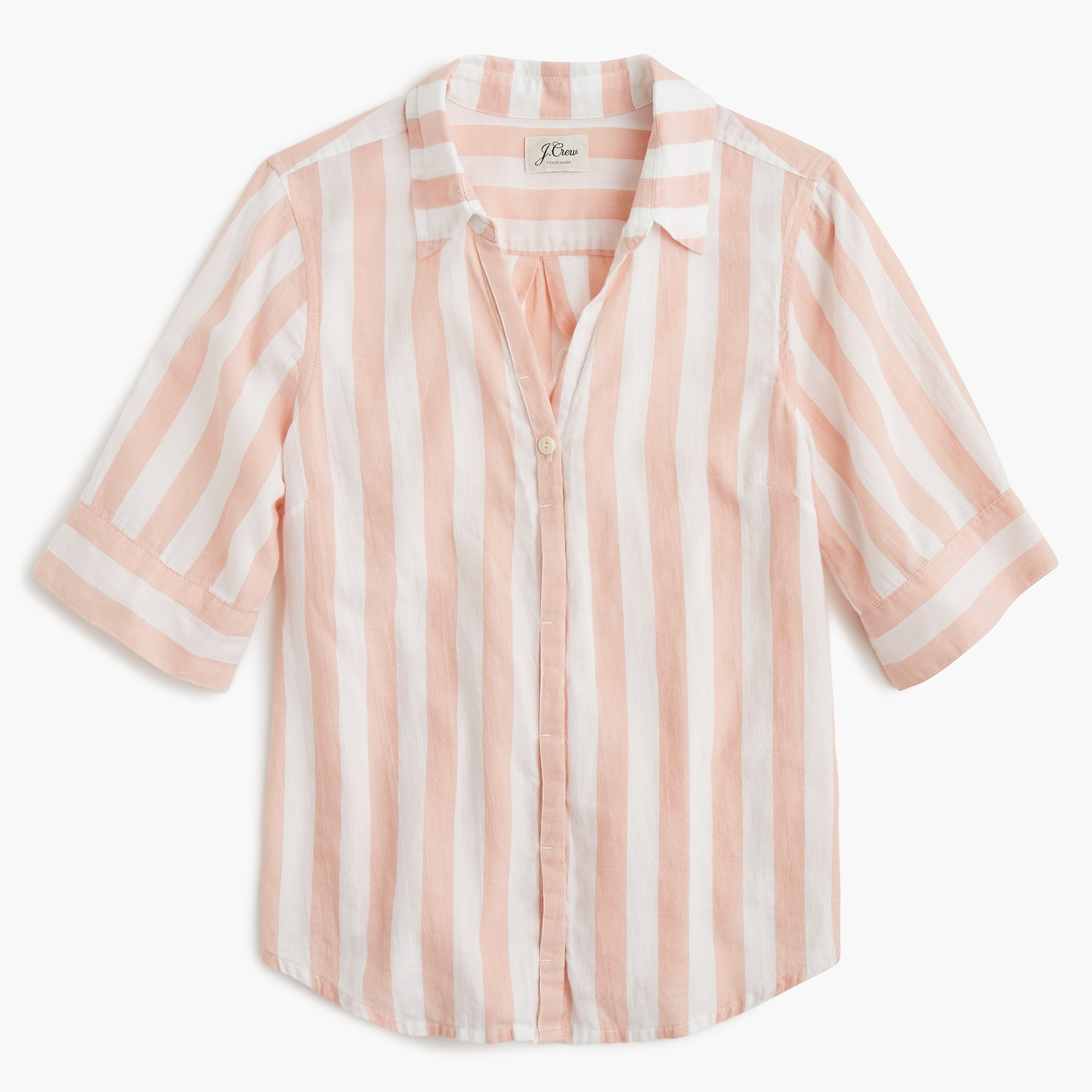 Classic Short-sleeve button-up shirt in wide stripe