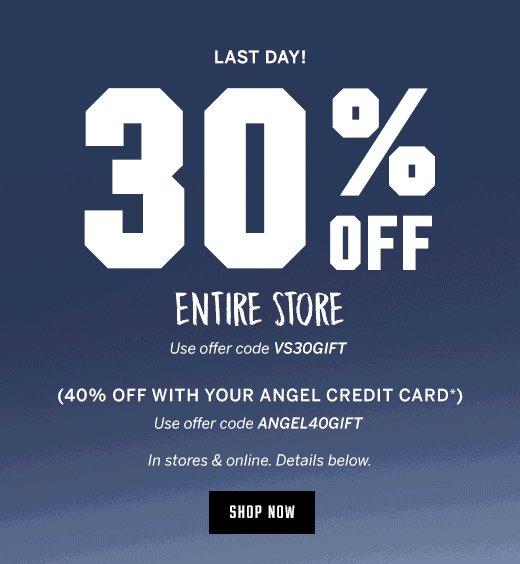 30% Off*