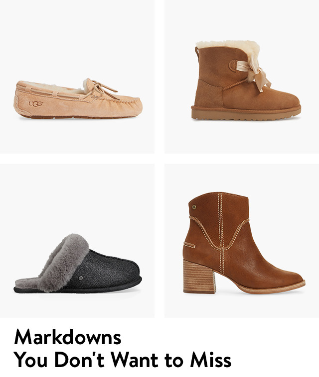 Shop markdowns from UGG and more.