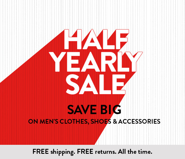 Save big on men's clothes, shoes and accessories through January 2.