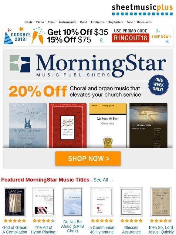 Sheet Music Plus: New Savings! 20% off Beautiful Choral