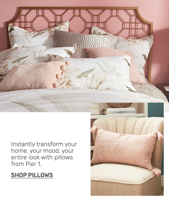 Buy one get one fifty percent off pillows.