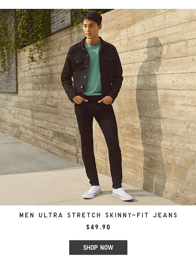 MEN ULTRA STRETCH SKINNY-FIT JEANS $49.90 - SHOP NOW
