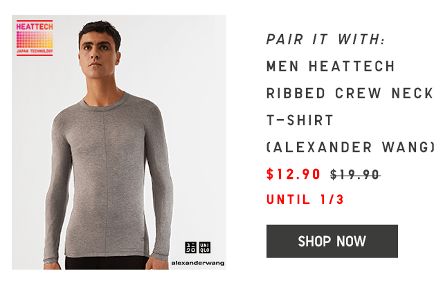 MEN HEATTECH V-NECK T-SHIRT $9.90 - SHOP NOW