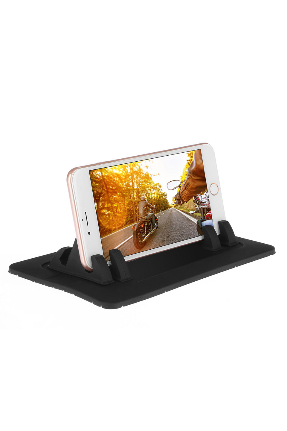 Universal Car Dashboard Silicone Mount Stand in Black