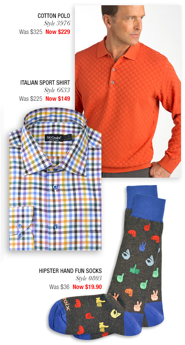 Checkered Cotton Polo - Style 3976