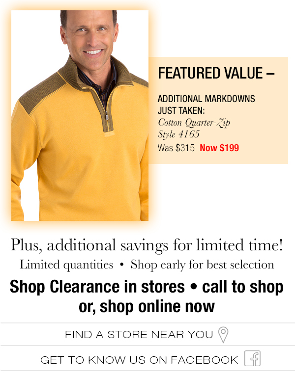 Shop Clearance Values