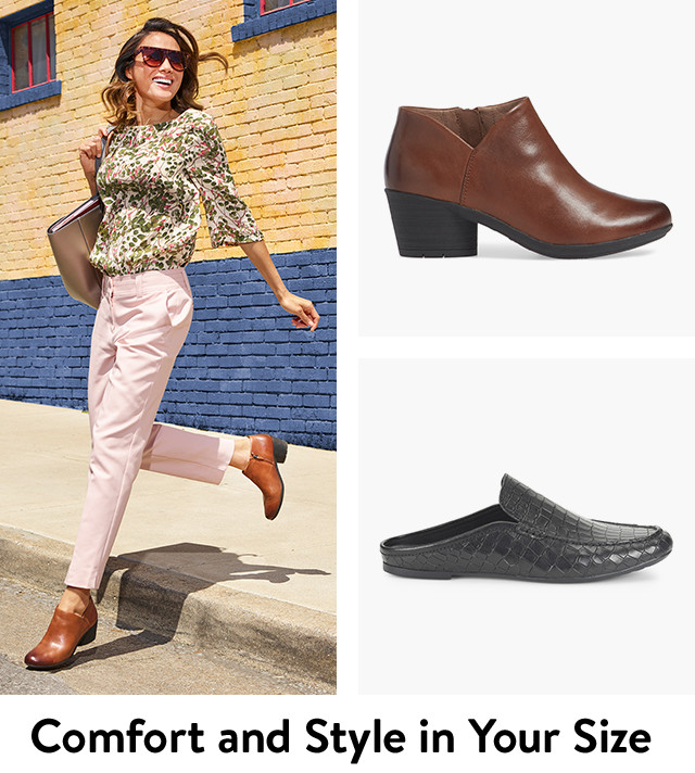 Shop women's comfort shoes in your size