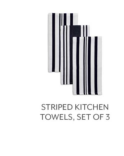 Striped Kitchen Towels, Set of 3