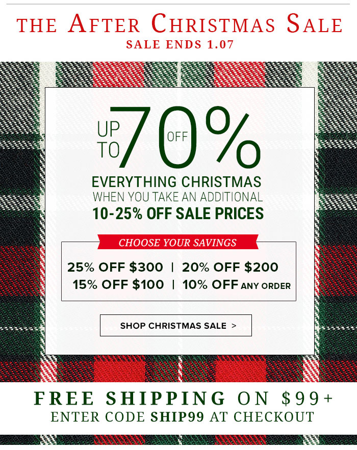 Up tp 70% Off Everything Christmas