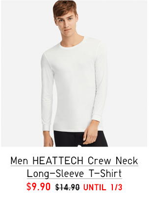 MEN HEATTECH CREW NECK SHORT-SLEEVE T-SHIRT $9.90