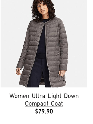 WOMEN ULTRA LIGHT DOWN COMPACT COAT $79.90