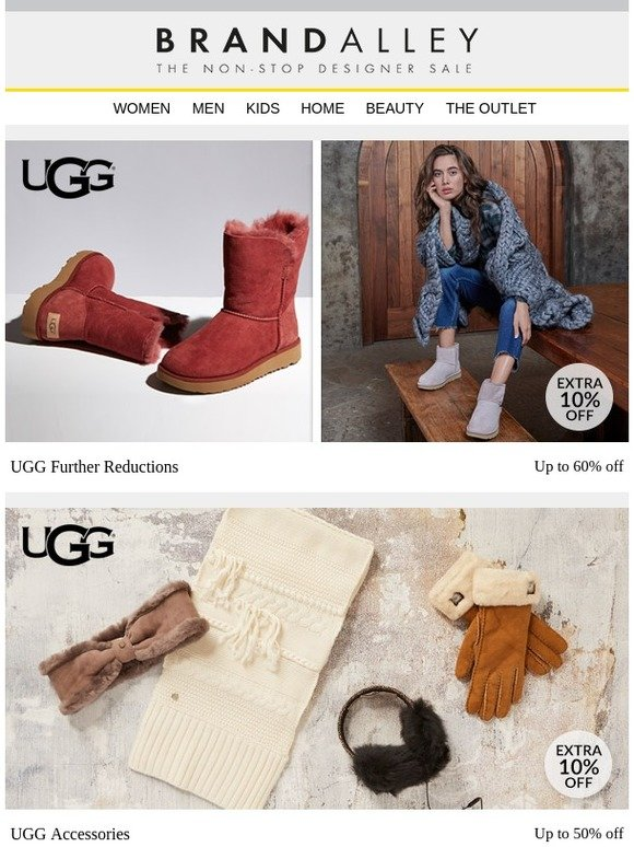 b0a4a1ec11d6 brandalley uk limited  New Year s Eve Special  An extra 10% off UGG and an  extra 20% off Cashmere. Plus FitFlop