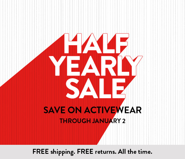 Save on activewear at Half-Yearly Sale.