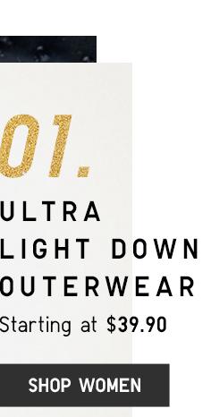 ULTRA LIGHT DOWN OUTERWEAR - SHOP WOMEN