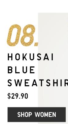 HOKUSAI BLUE SWEATER - SHOP WOMEN