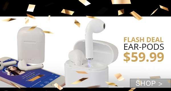 FLASH SALE: BLUETOOTH EAR-PODS