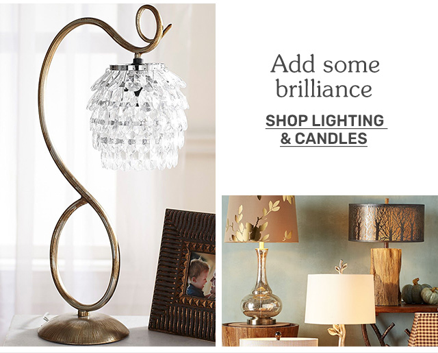 Shop lighting and candles.