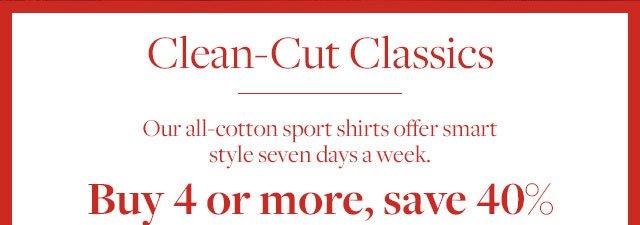 CLEAN-CUT CLASSICS