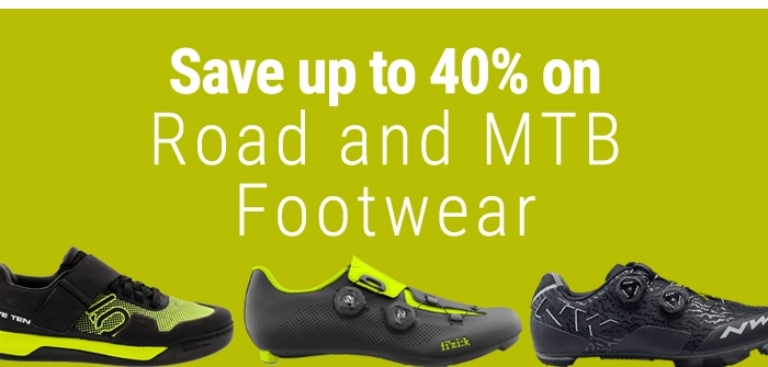 Save up to 40% on Road and MTB Footwear