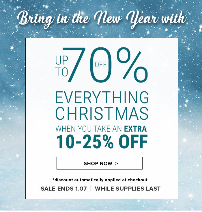 Up to 70% Off All Things Christmas!