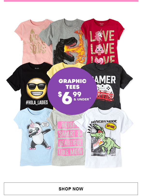 Graphic Tees $6.99 & Under