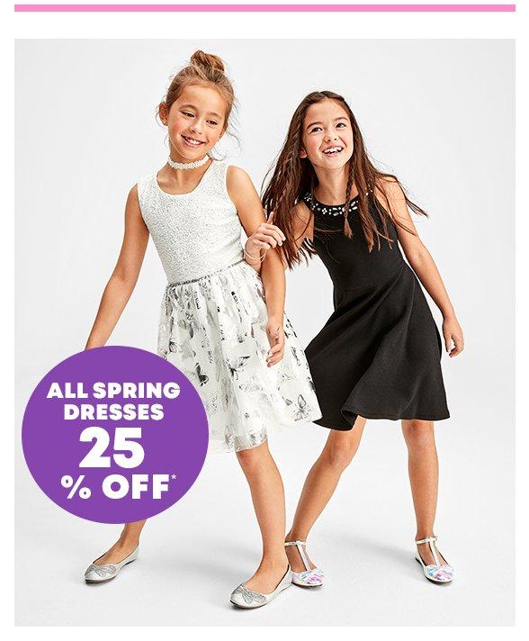Spring Dresses 25% off