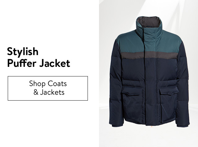 Stylish puffer jackets for men.