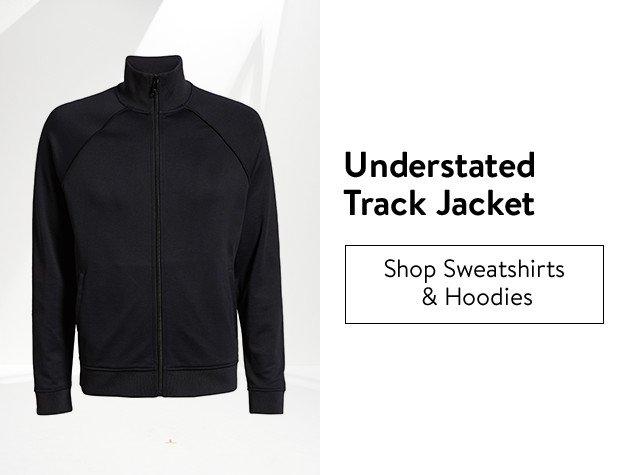 Understated track jackets for men.