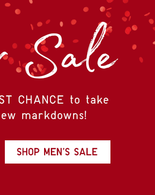 WINTER SALE - SHOP MEN