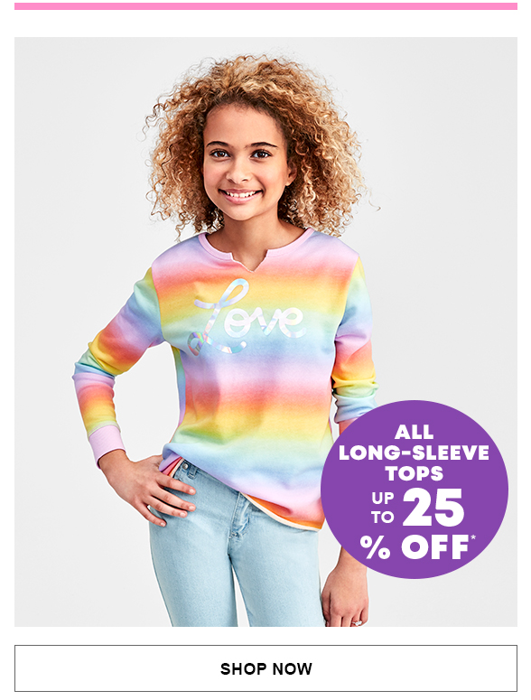 All Long-Sleeve Tops Up to 25% Off