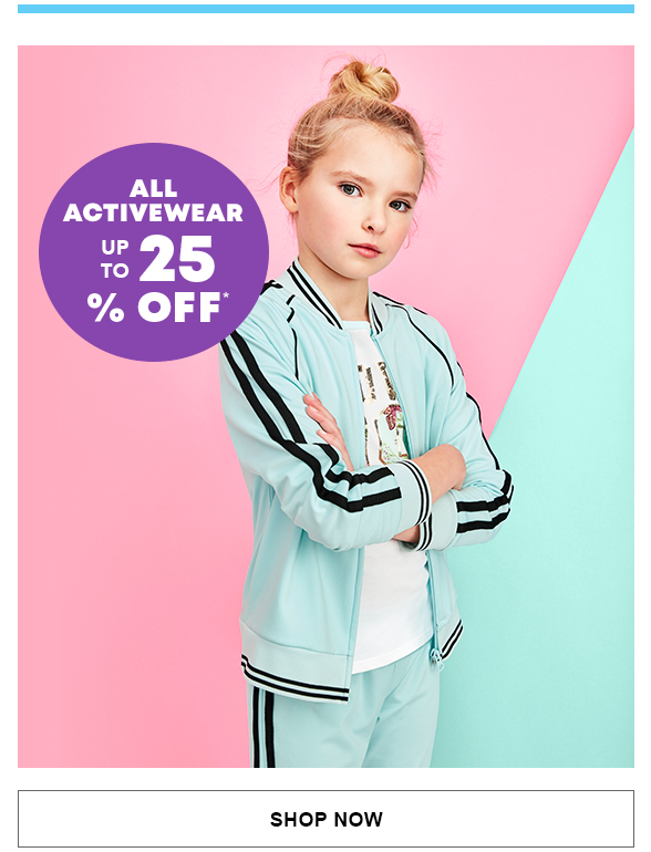 Up to 25% Off All Activewear