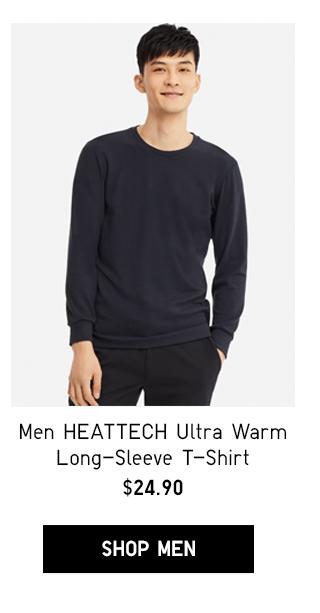 MEN HEATTECH ULTRA WARM LONG-SLEEVE T-SHIRT $24.90
