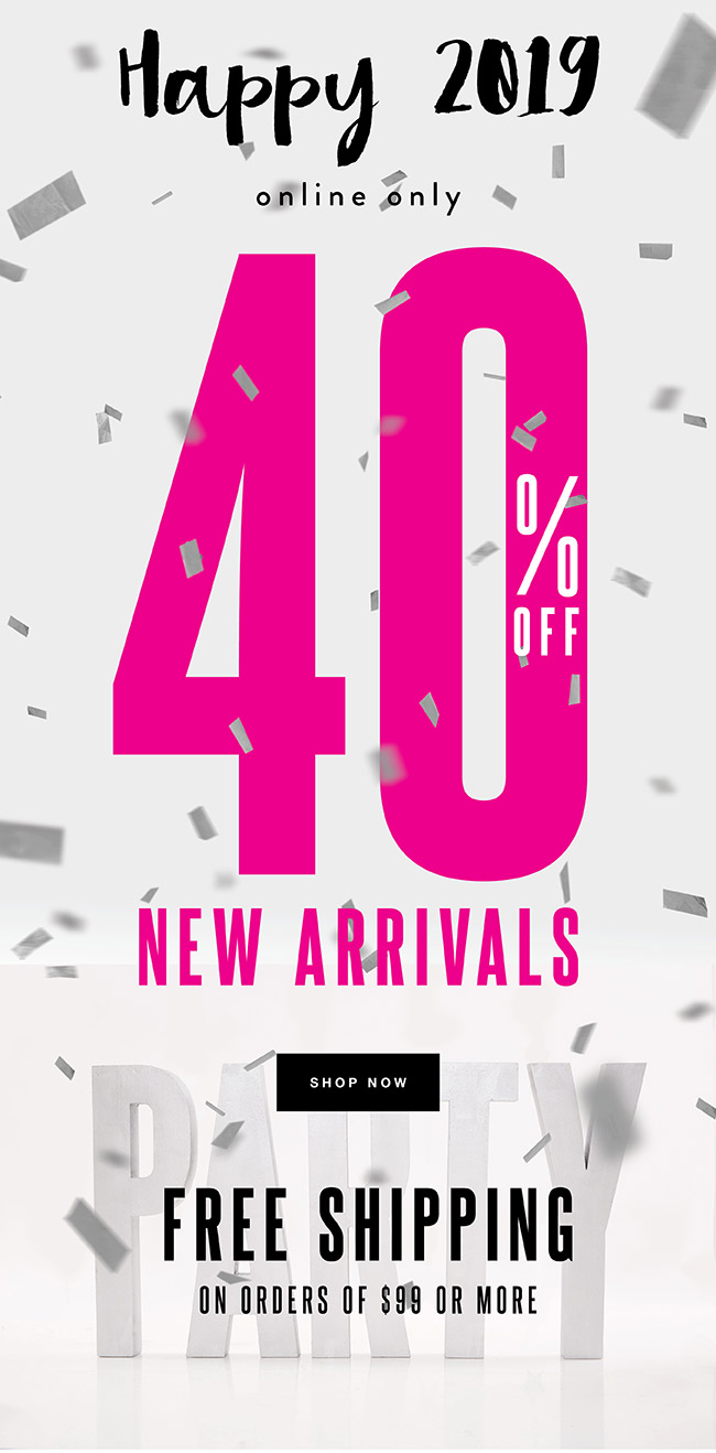 40% off New Arrivals + Free shipping on orders of $99 or more - Shop Now