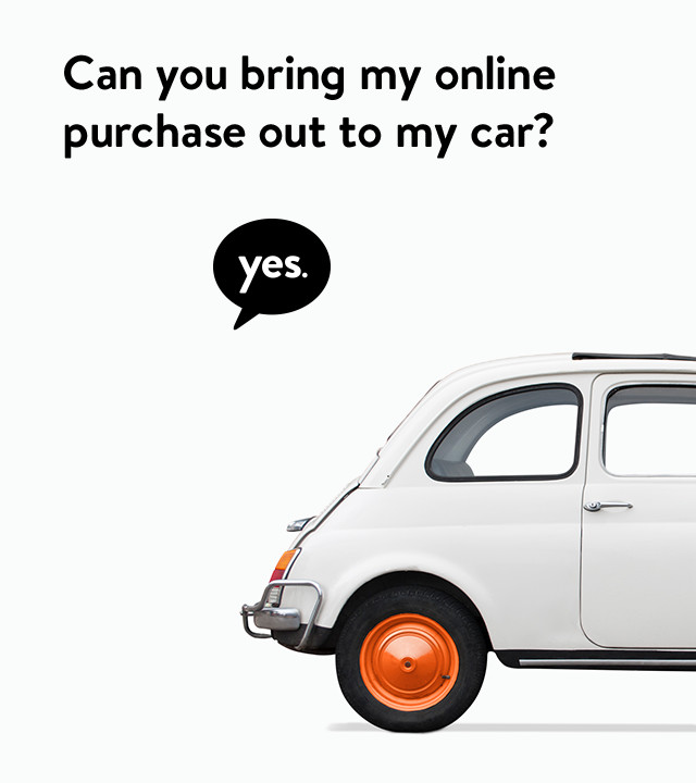 Can you bring my online purchase out to my car? yes.