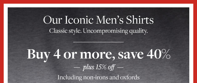 OUR ICONIC MEN'S SHIRTS