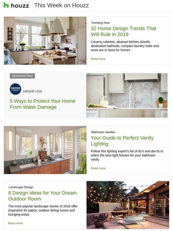 Houzz: 32 Home Design Trends That Will Rule in 2019   Your Guide to