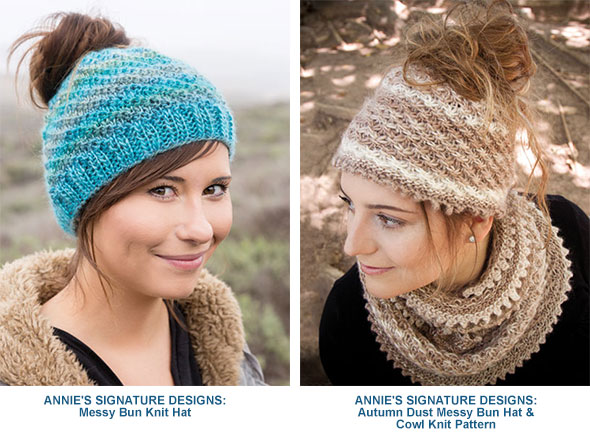 0b273fb87ba ANNIE S SIGNATURE DESIGNS  Messy Bun Knit Hat