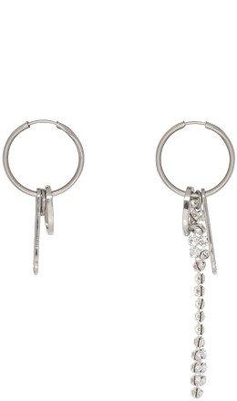 Justine Clenquet - Silver Eddie Hoop Earrings