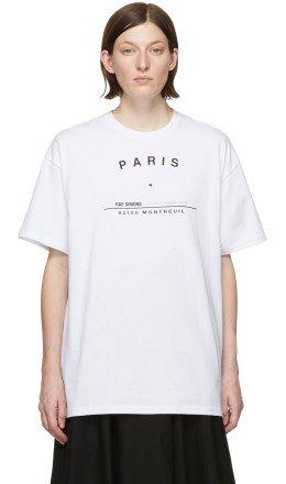Raf Simons - White Big Fit Tour T-Shirt