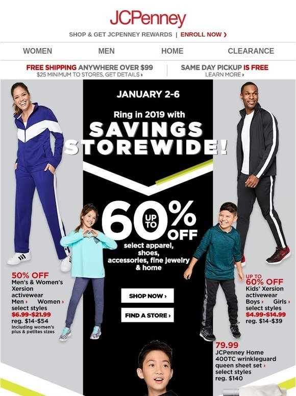 a2adc326e1f2 JC Penney  Ring in 2019 with up to 60% OFF!