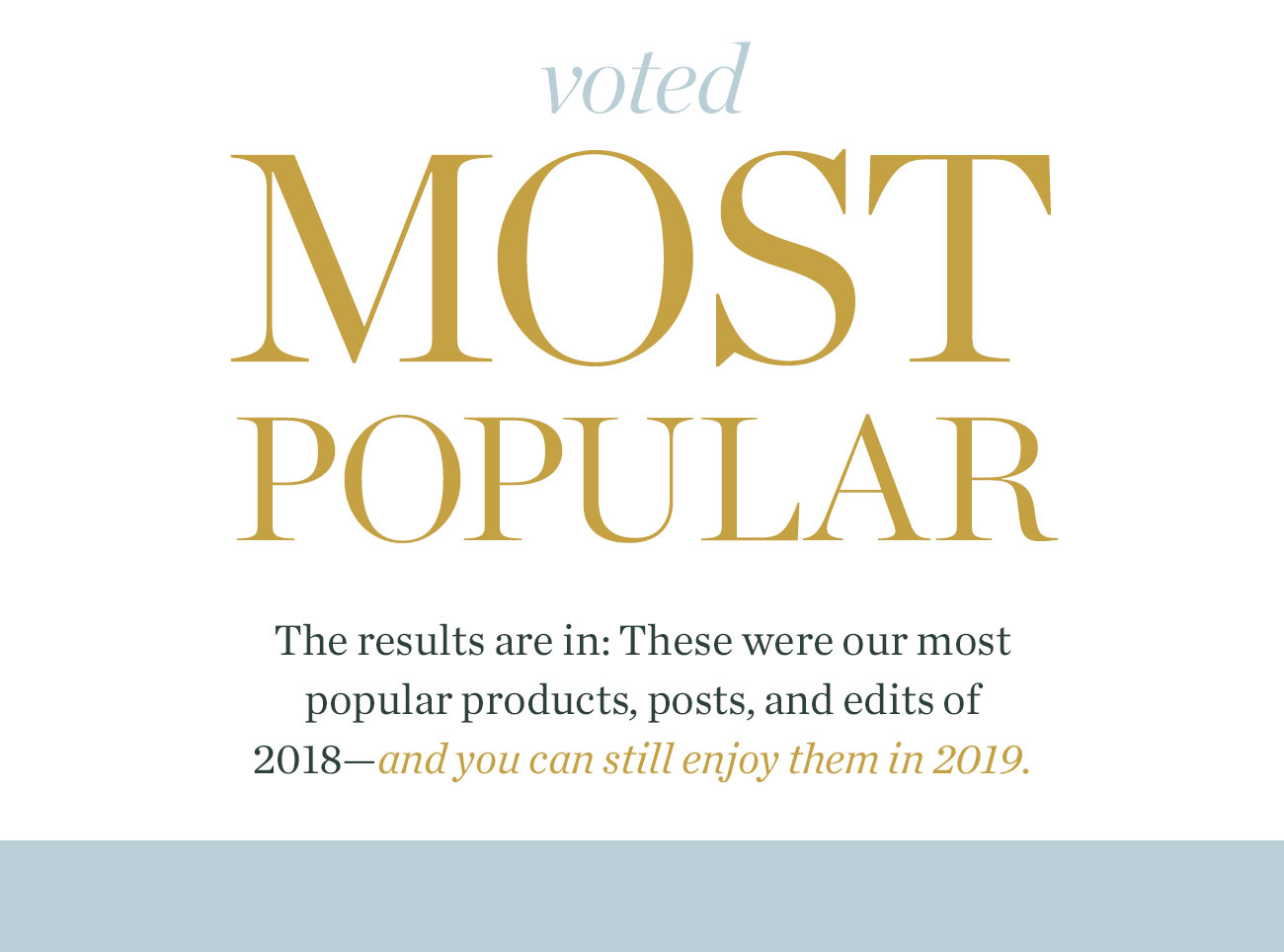 Voted Most Popular of 2018