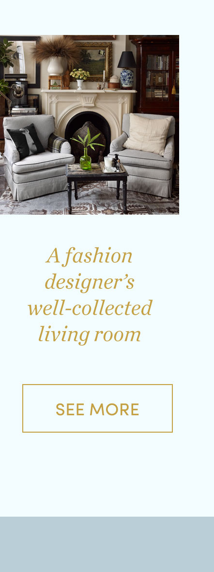 A fashion designer's living room