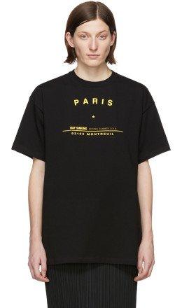Raf Simons - Black Tour Big Fit T-Shirt