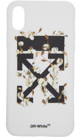 Off-White - White & Black Cotton Flower iPhone X Case